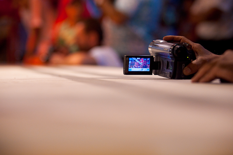 Video Camera Ringside Muay Thai Boxing Ring - Bangkok, Thailand - Daily Travel Photos