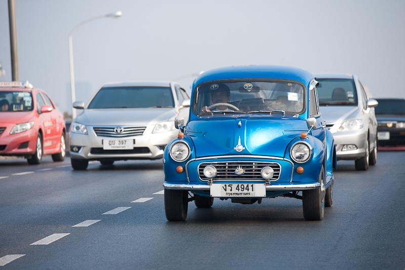 Morris Minor Classic Car Blue - Bangkok, Thailand - Daily Travel Photos