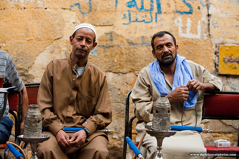 Egyptians Street Ahwa Cafe Sheesha - Cairo, Egypt - Daily Travel Photos