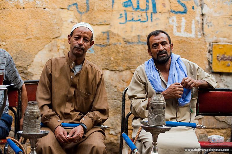 Egyptians Street Ahwa Cafe Sheesha - Cairo, Egypt - Daily Travel Photos