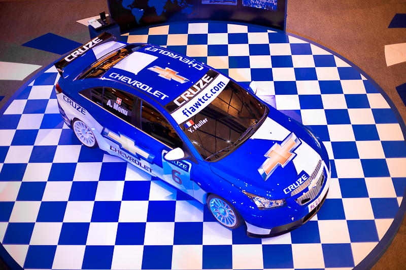 Blue Chevrolet Stock Car Y. Muller - Bangkok, Thailand - Daily Travel Photos