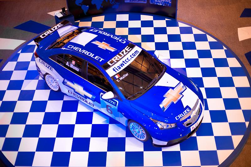 Blue Chevrolet Stock Car Y. Muller - Bangkok, Thailand - Daily Travel Photos