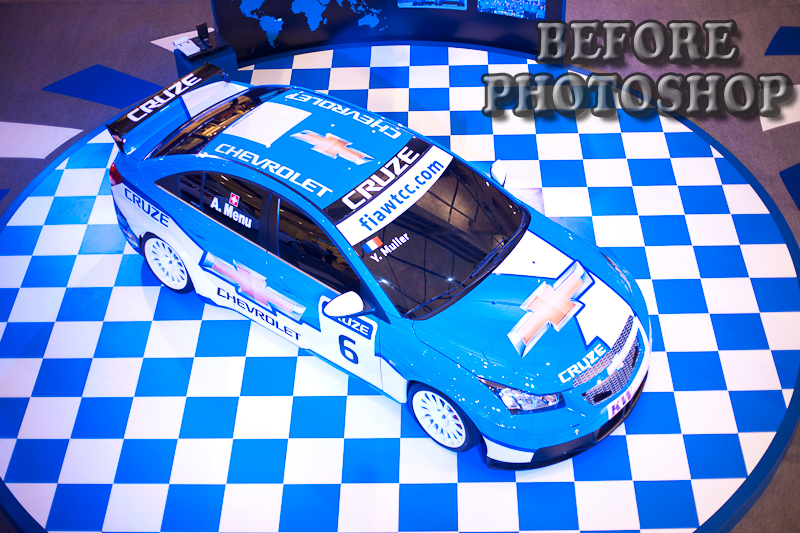 Before Post-Process Blue Chevorlet Stock Car - Bangkok, Thailand - Daily Travel Photos