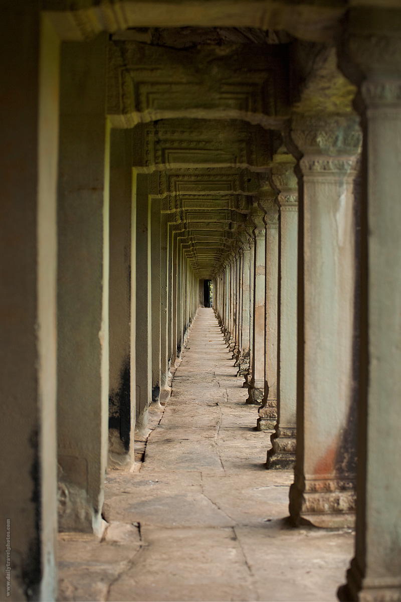 Side Hallway Repeating Columns Angkor Wat Temple - Siem Reap, Cambodia - Daily Travel Photos