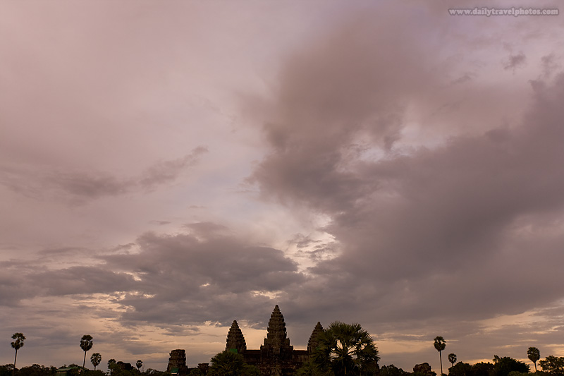 Angkor Wat Temple Colorful Sunset After Rain - Siem Reap, Cambodia - Daily Travel Photos