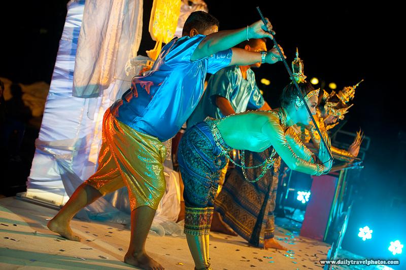 Unique Thai Traditional Dance Poles Marionette Performance - Bangkok, Thailand - Daily Travel Photos