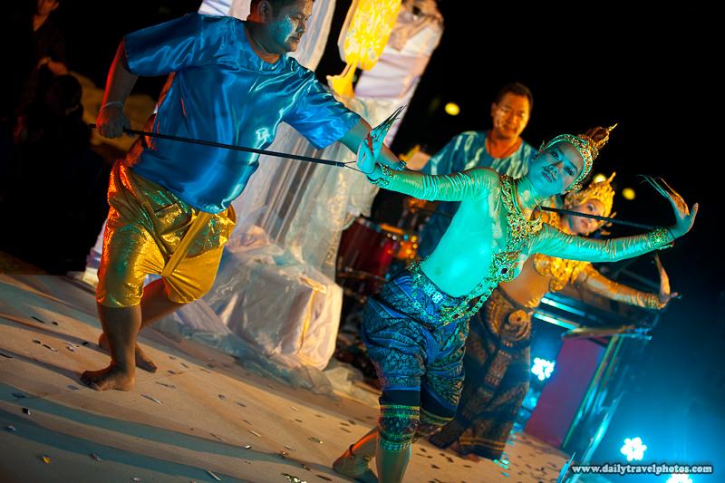Pole Control Thai Traditional Dancer Performance - Bangkok, Thailand - Daily Travel Photos