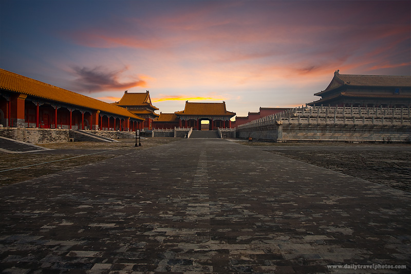 Dawn Sunrise Forbidden City Morning Gate Supreme Harmony - Beijing, China - Daily Travel Photos