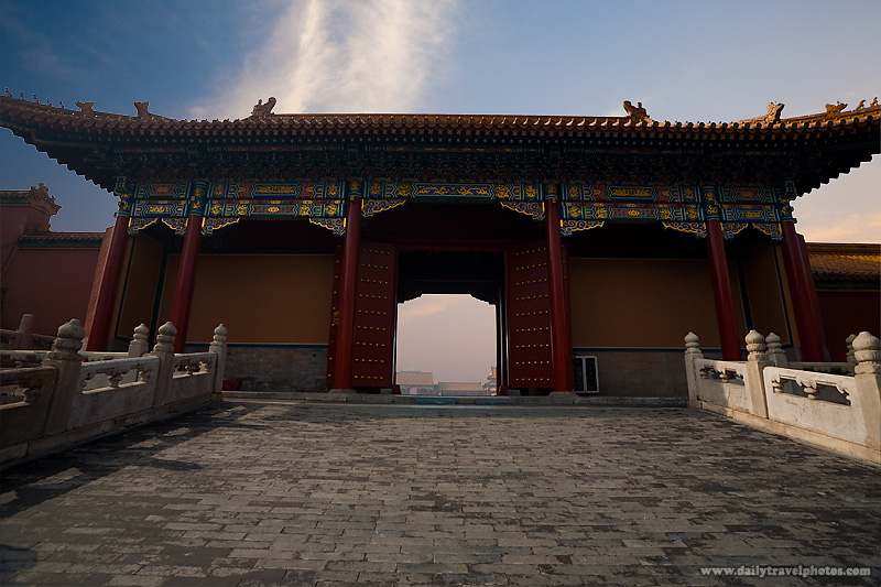 Morning Gate Supreme Harmony Forbidden City - Beijing, China - Daily Travel Photos