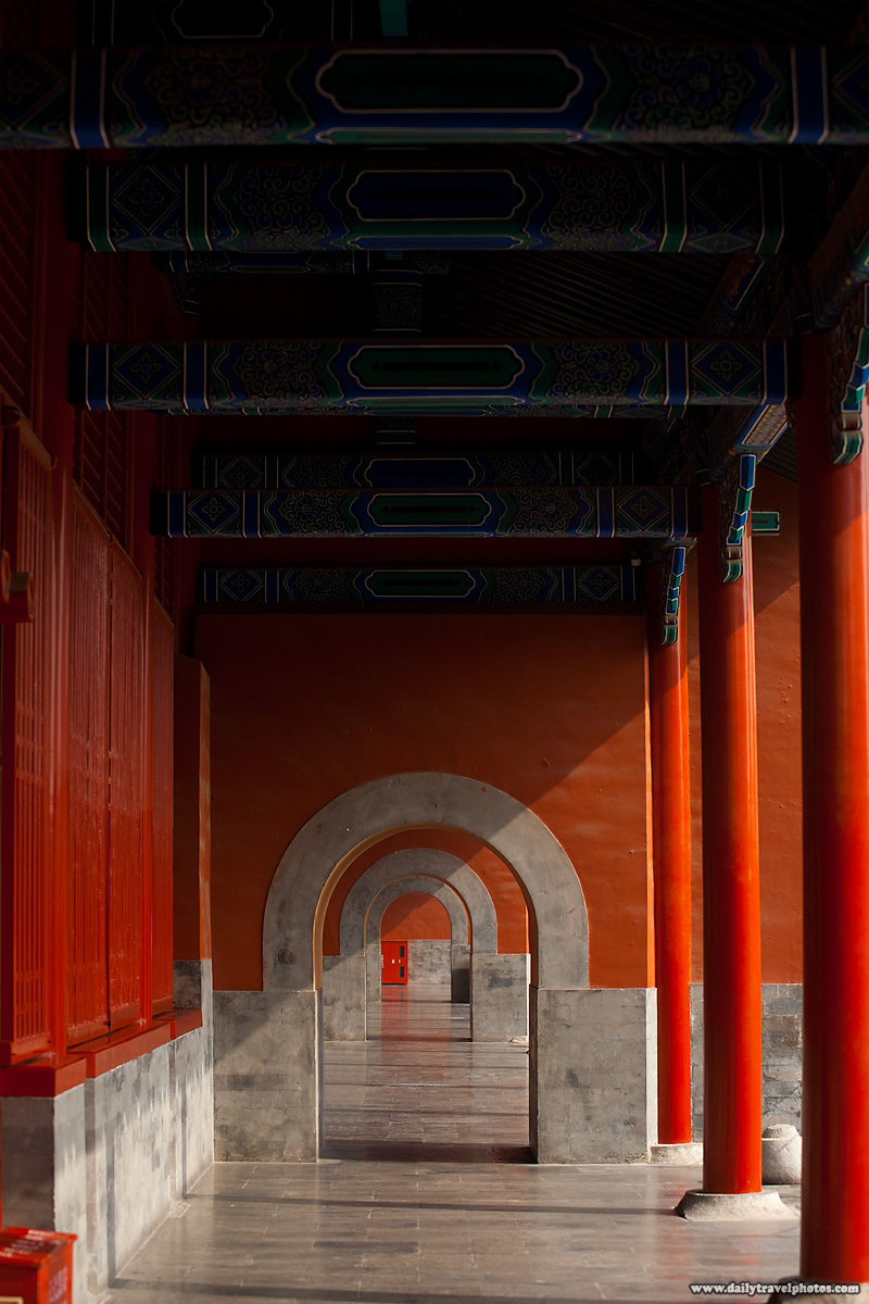 Ornate Hallway Portico Forbidden City Repetition - Beijing, China - Daily Travel Photos