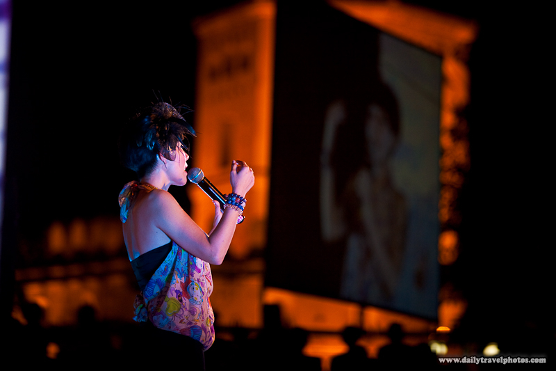 Thai Female Singing Celebrity Night Performance - Bangkok, Thailand - Daily Travel Photos