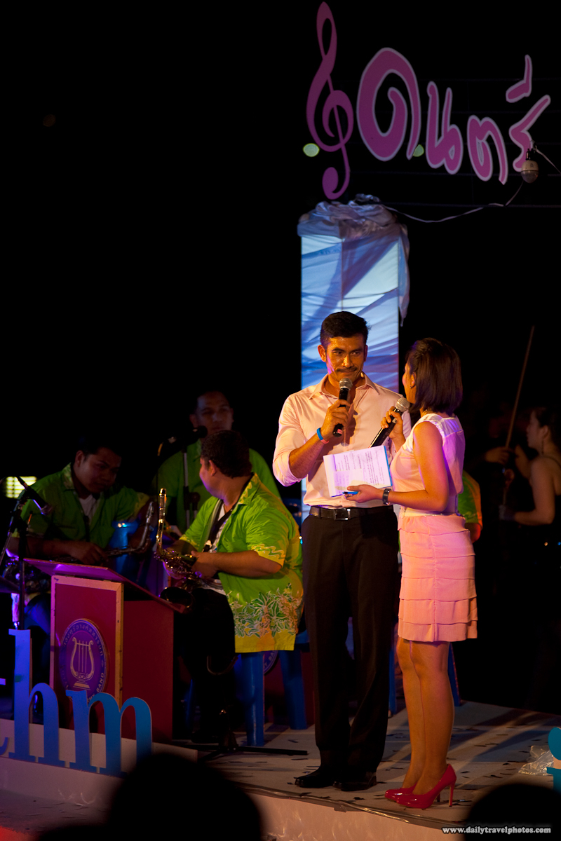 Master of Ceremony Famous Thai Man Woman Stage Night - Bangkok, Thailand - Daily Travel Photos
