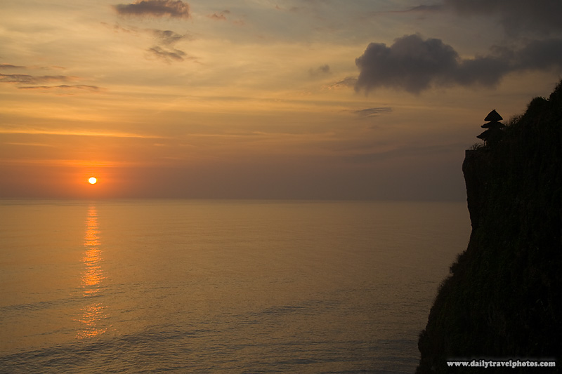 Cliff Sunset Ocean Hindu Temple - Uluwatu, Bali, Indonesia - Daily Travel Photos