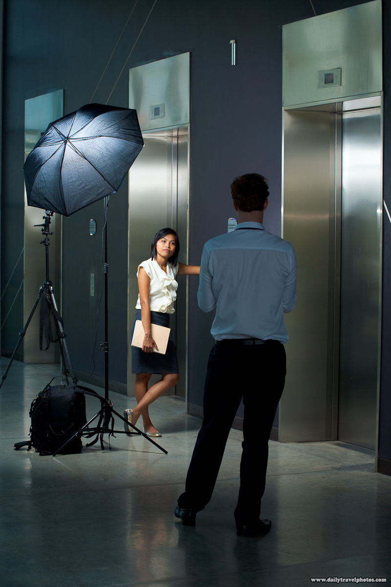 Setup Shot Business Woman Professional Off-Camera Lights Model - Bangkok, Thailand - Daily Travel Photos