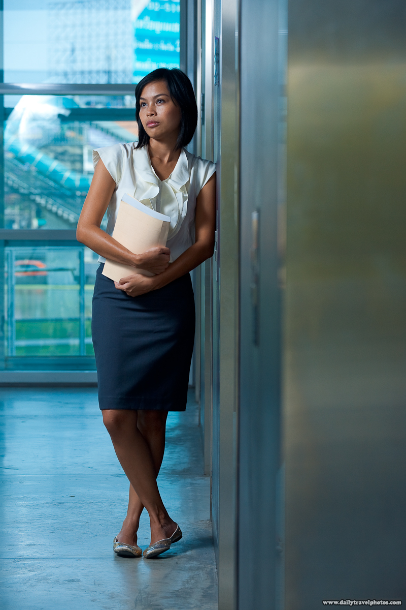 Asian Thai Beautiful Business Professional Office Building Elevator - Bangkok, Thailand - Daily Travel Photos
