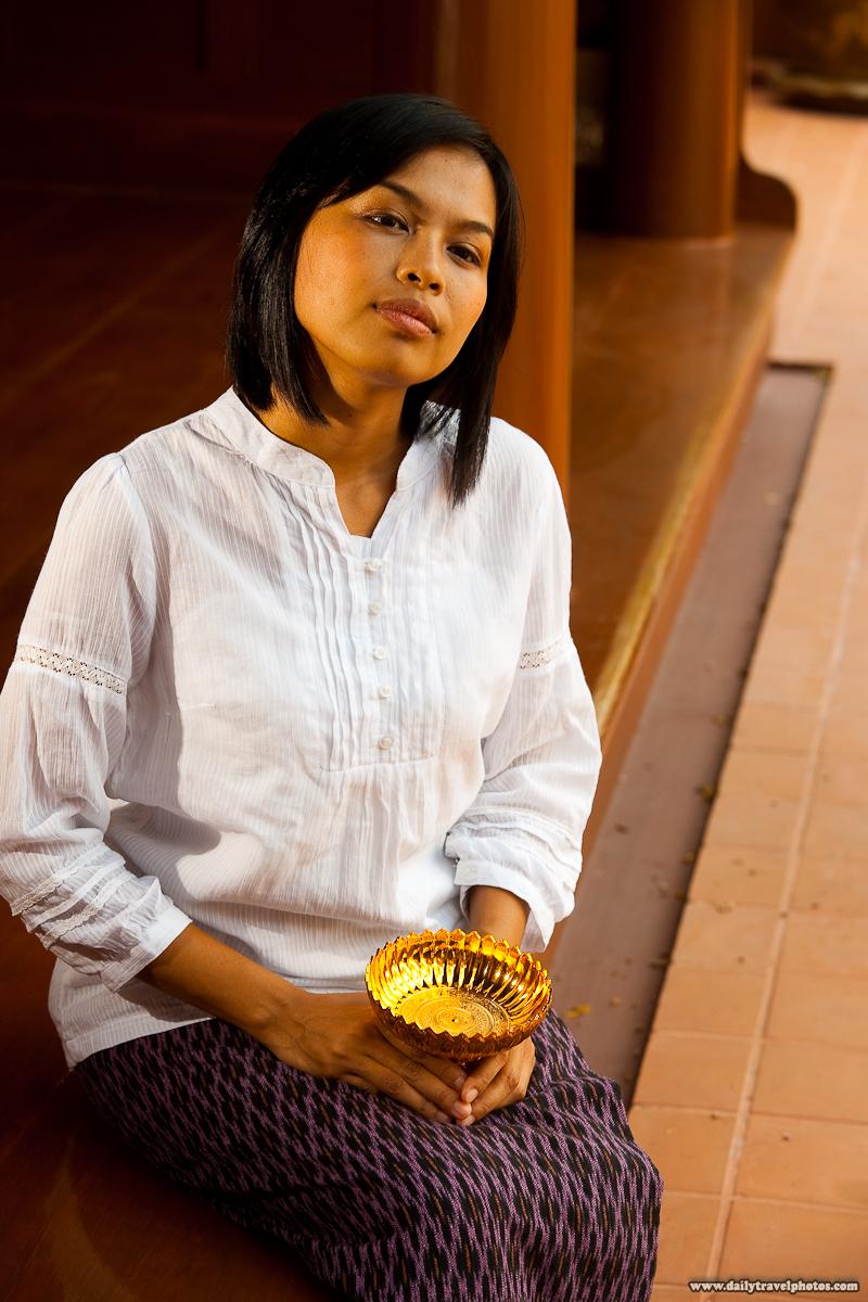 Thai Model Traditional Thai Courtyard Porch Clothes - Bangkok, Thailand - Daily Travel Photos