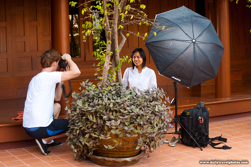 Setup Shot Strobes Traditional Thai Teak House - Bangkok, Thailand - Daily Travel Photos