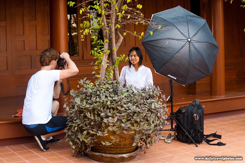 Setup Shot Strobes Traditional Thai Teak House - Bangkok, Thailand - Daily Travel Photos