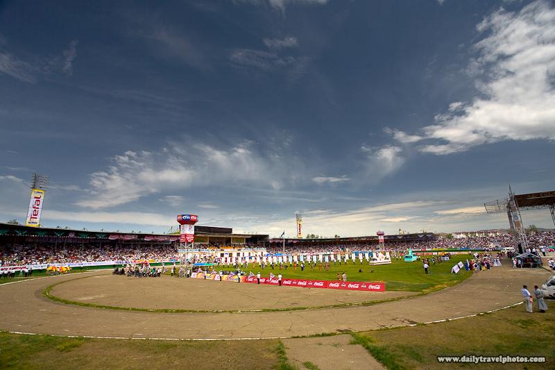 Open Ceremony Nadaam Festival 2007 Stadium Beautiful Sky - Ulaan Baatar, Mongolia - Daily Travel Photos
