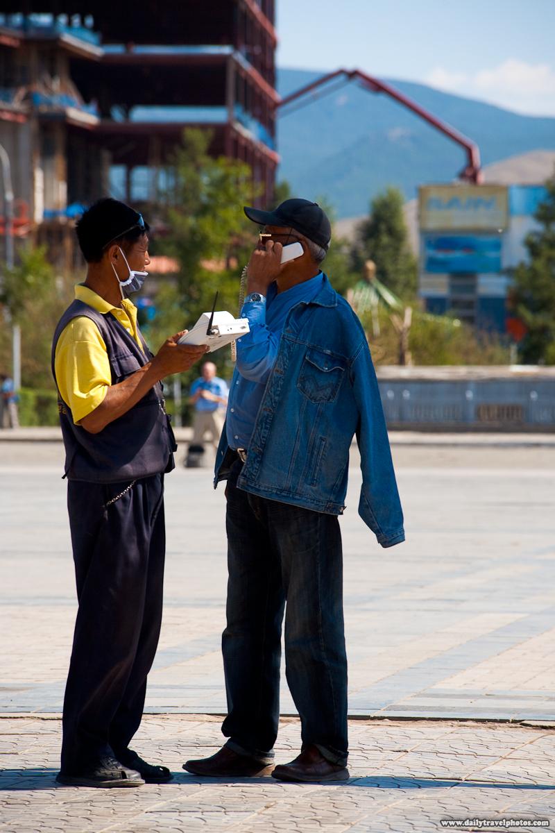 Public Phone Service Cordless Handset - Ulaan Baatar, Mongolia - Daily Travel Photos