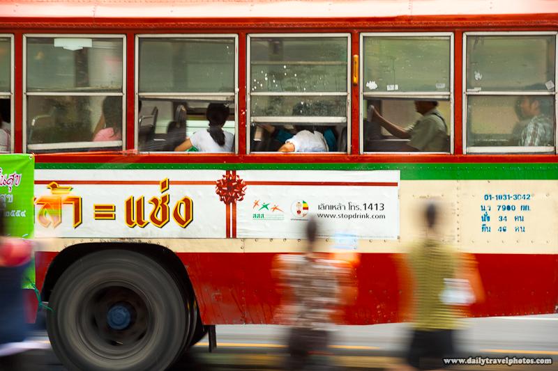 Songkran Bus Passengers Shot Surprise Water Guns - Bangkok, Thailand - Daily Travel Photos