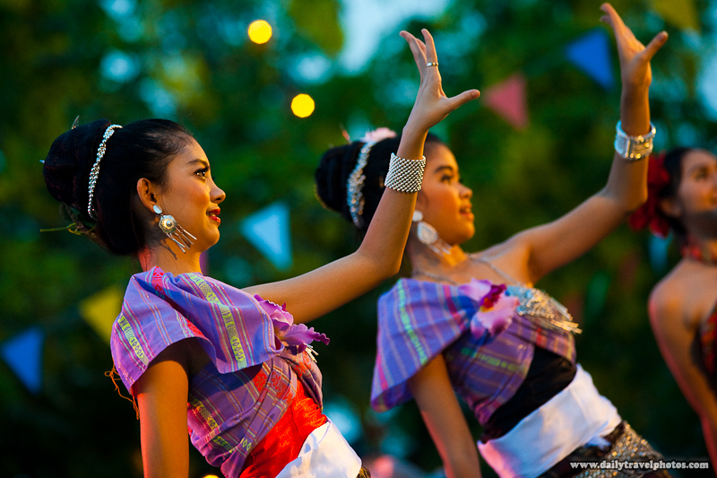 Cute Young Thai Girl Performing Traditional Dance On Stage - Bangkok, Thailand - Daily Travel Photos