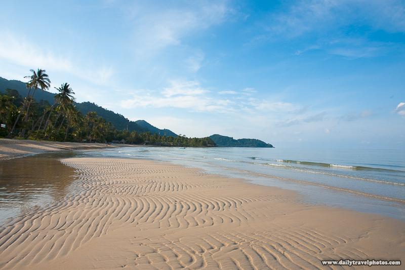 Empty Lonely Beach Morning Sandbar Before Processing - Ko Chang, Thailand - Daily Travel Photos