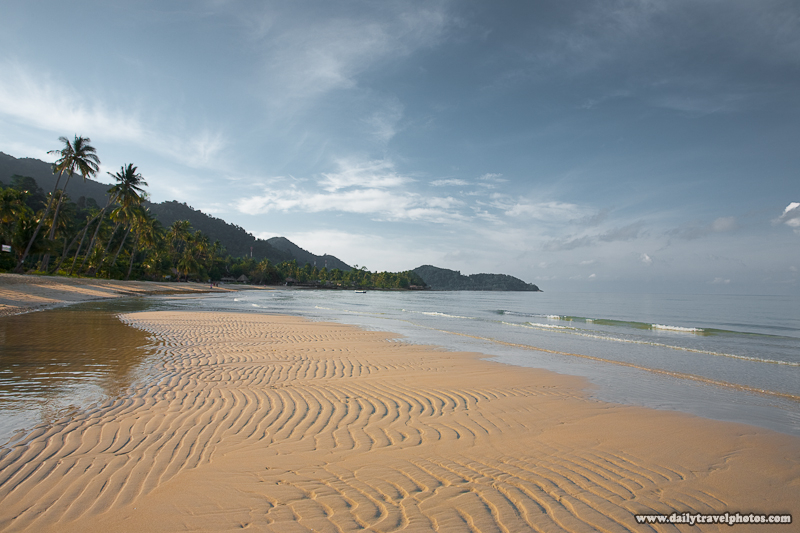 Empty Lonely Beach Morning Sandbar - Ko Chang, Thailand - Daily Travel Photos