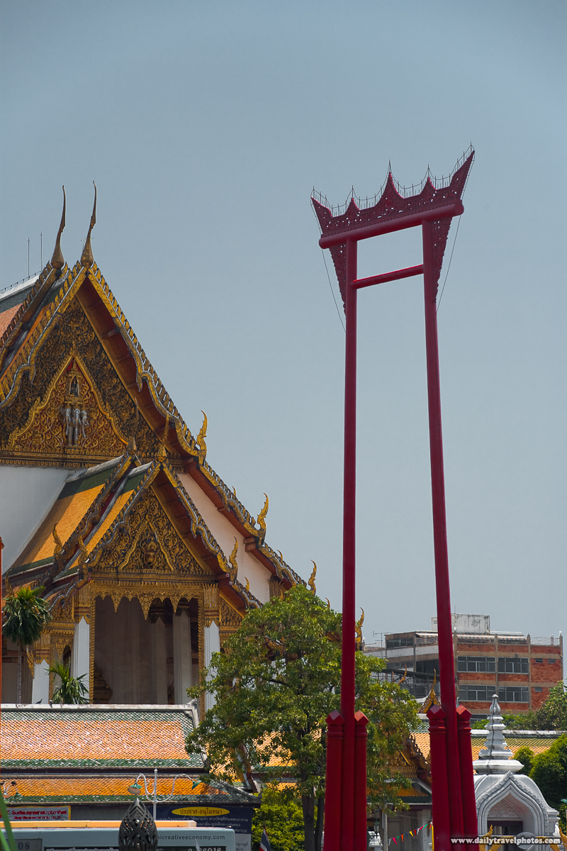 Giant Swing Wat Suthat Tourist Attraction - Bangkok, Thailand - Daily Travel Photos