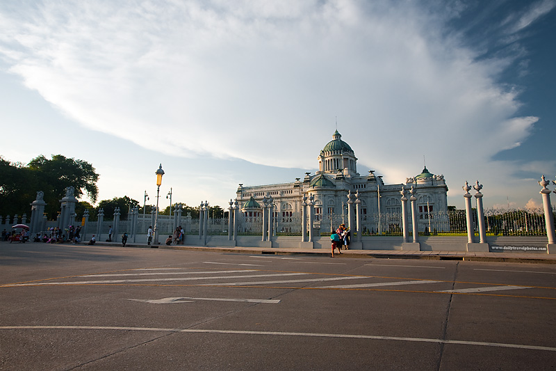 Ananta Samakhom Throne Hall Dusit Palace Entrance Tourists - Bangkok, Thailand - Daily Travel Photos