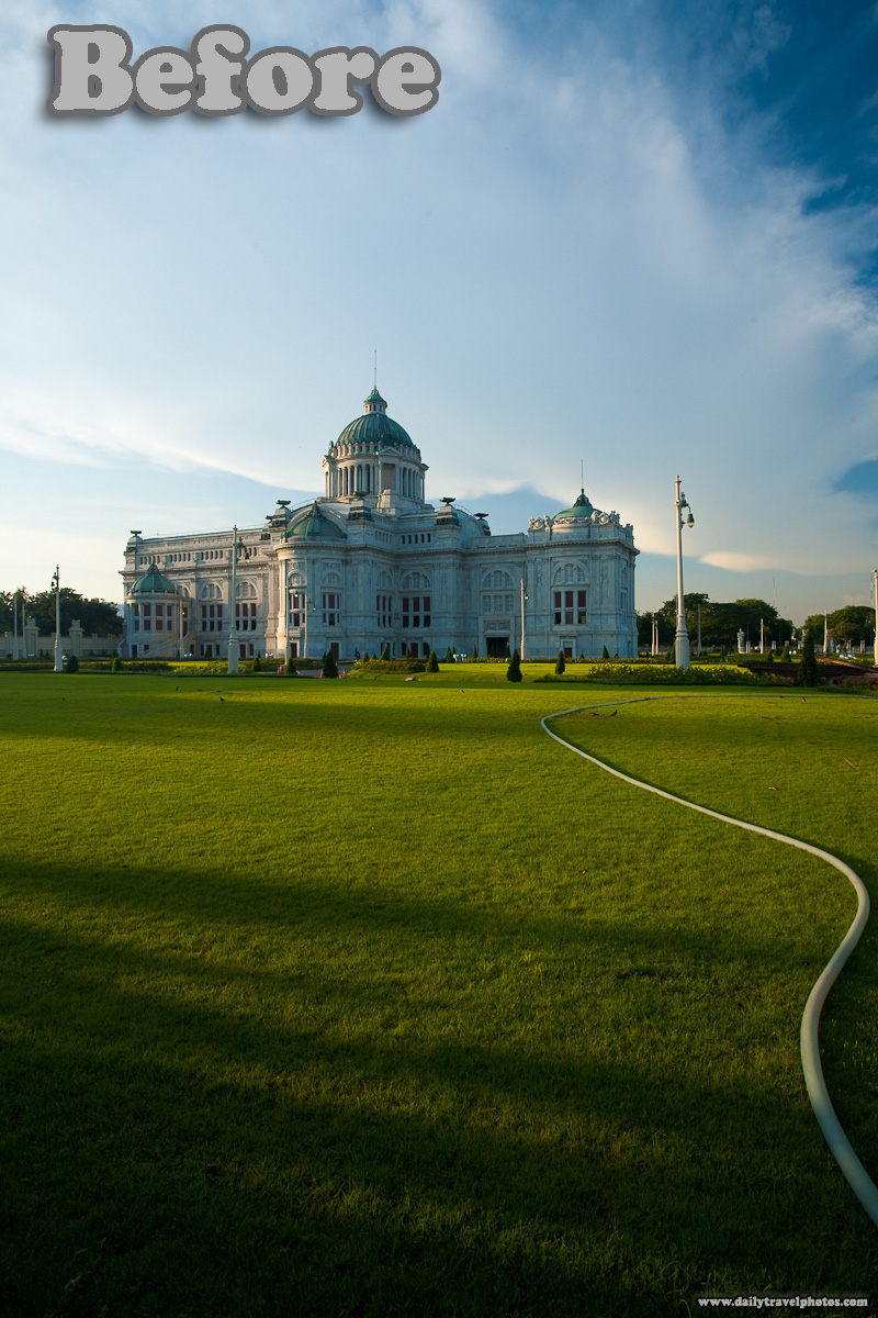 Ananta Samakhom Throne Hall Dusit Palace Before Post Production - Bangkok, Thailand - Daily Travel Photos