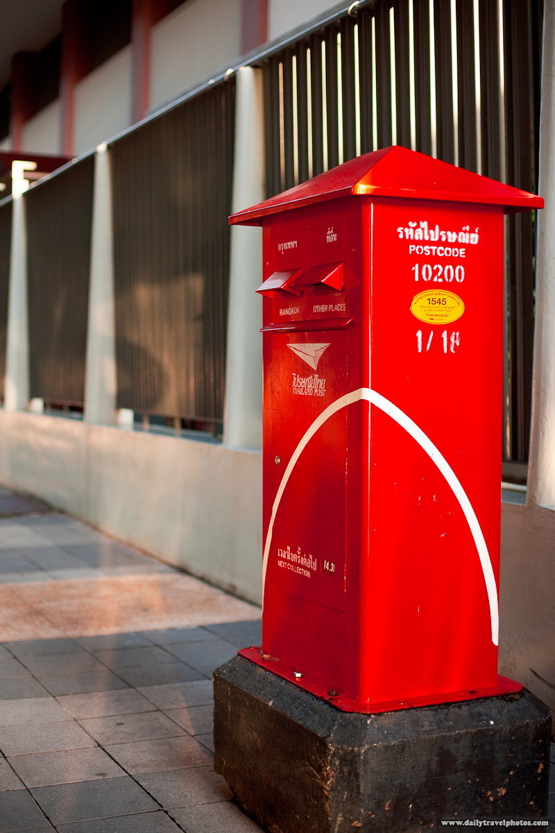 Bangkok Mail Letter Postal Boxes - Bangkok, Thailand - Daily Travel Photos