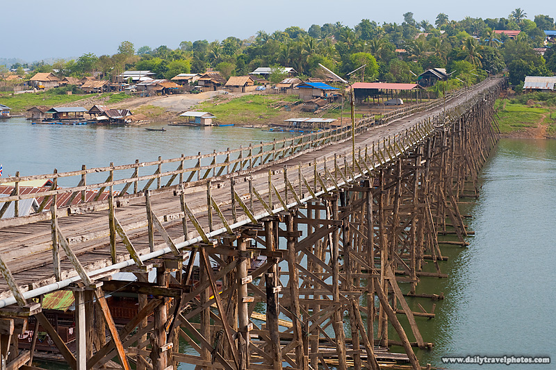 Near Myanmar Border Saphan Mon Longest Wooden Bridge - Sangkhlaburi, Thailand - Daily Travel Photos
