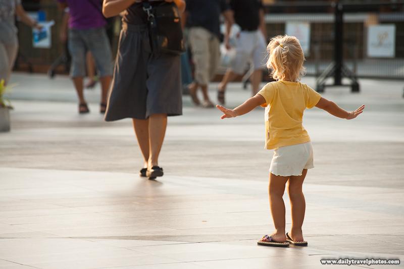 Young Russian Child Model Posing at Paragon Mall Square - Bangkok, Thailand - Daily Travel Photos