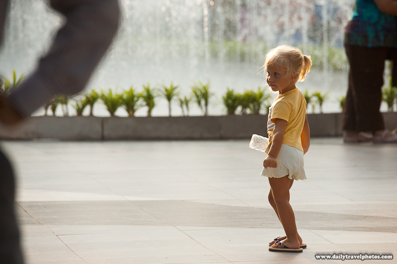 Young Tourist Child Models Outside the Paragon Mall - Bangkok, Thailand - Daily Travel Photos