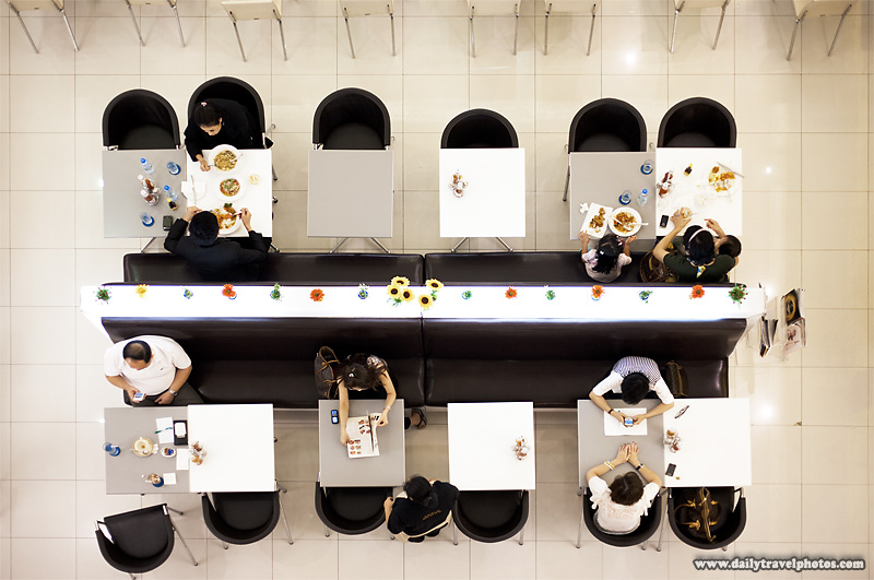 Siam Mall Restaurant Seen From Directly Overhead - Bangkok, Thailand - Daily Travel Photos
