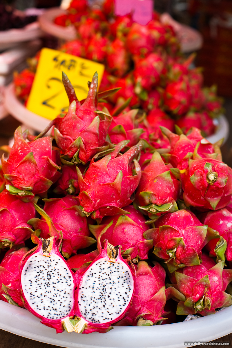 Dragon Fruit Piles Pitaya Pile- Bangkok, Thailand - Daily Travel Photos