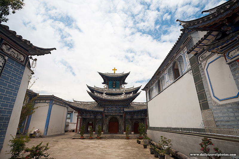 Courtyard Chinese Christin Church - Dali, Yunnan, China - Daily Travel Photos