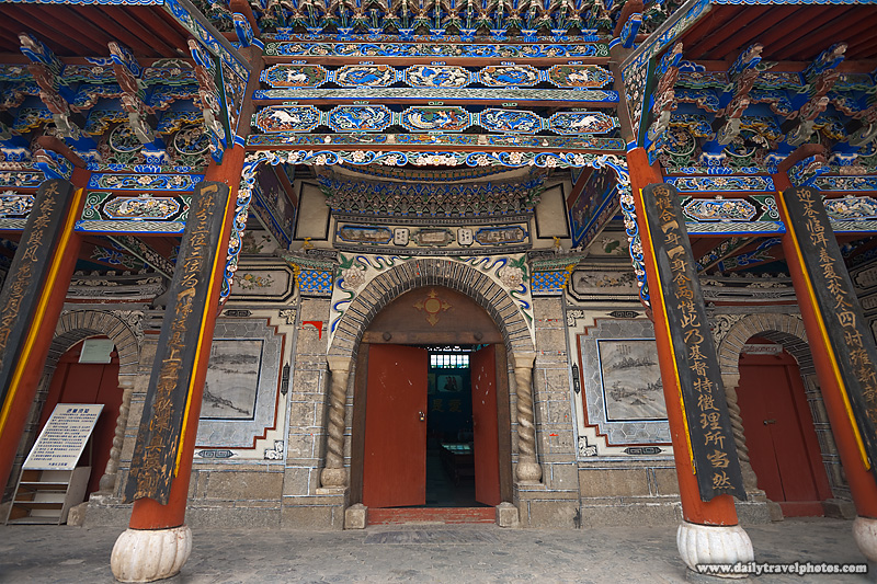 Orange Entrance Vestibule Chinese Christian Church - Dali, Yunnan, China - Daily Travel Photos