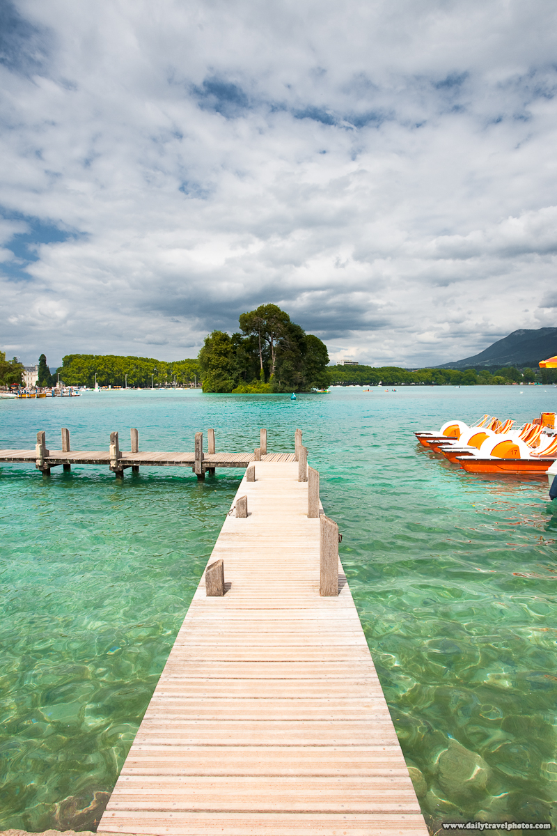 Pier Leading Into Annecy Lake (Lac du Annecy) - Annecy, Haute-Savoie, France - Daily Travel Photos