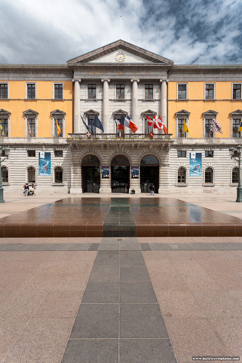 Hotel de Ville City Hall Fountain - Annecy, Haute-Savoie, France - Daily Travel Photos