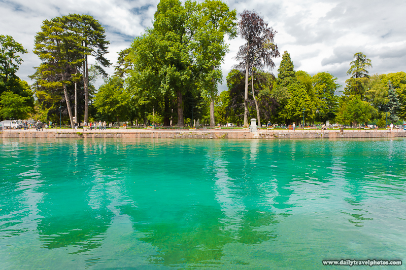 Canal Branching from Lac d'Annecy or Annecy Lake and Beautiful Glacial Water - Annecy, Haute-Savoie, France - Daily Travel Photos