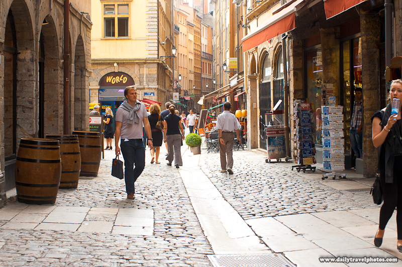Rue Saint Jean, a Preserved Street in Old (Le Vieux) Lyon - Lyon, France - Daily Travel Photos