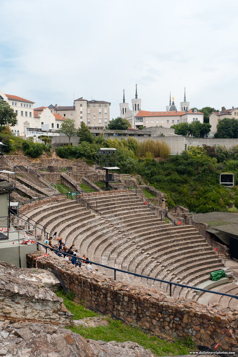 Preserved Roman Theater and Cathedral of Notre Dame - Lyon, France - Daily Travel Photos