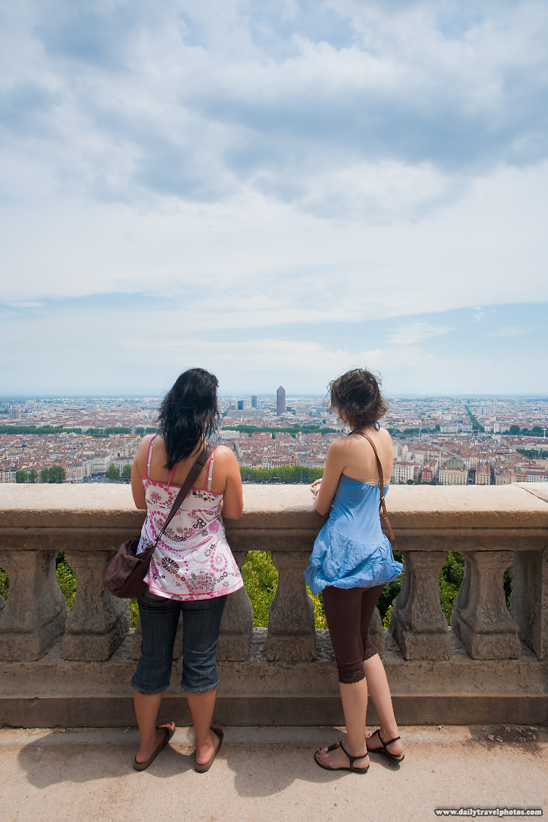 Viewpoint Overlooking Downtown Lyon From Basilica Notre Dame de Fourviere - Lyon, France - Daily Travel Photos