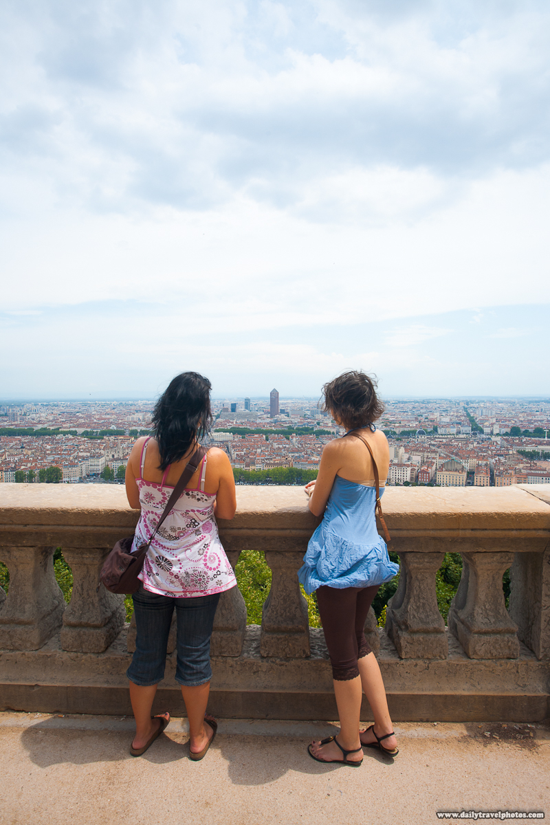 Before Version of Viewpoint Photo From Basilica Notre Dame de Fourviere - Lyon, France - Daily Travel Photos
