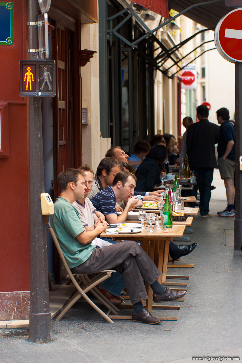 Parisians Eating Lunch at a Street Cafe in Latin Quarter - Paris, France - Daily Travel Photos