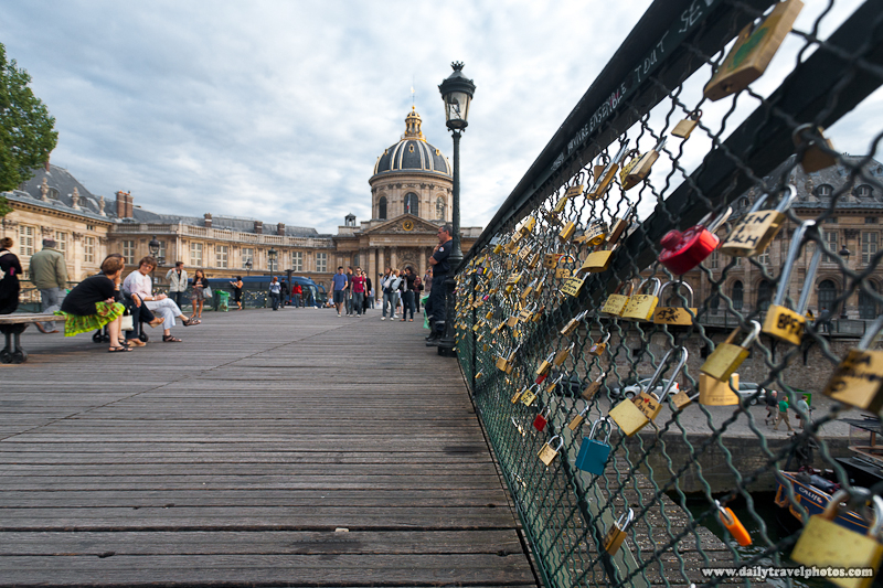Bibliotheque Marzarine (library) Seen From Pont Des Arts Full of Locks - Paris, France - Daily Travel Photos