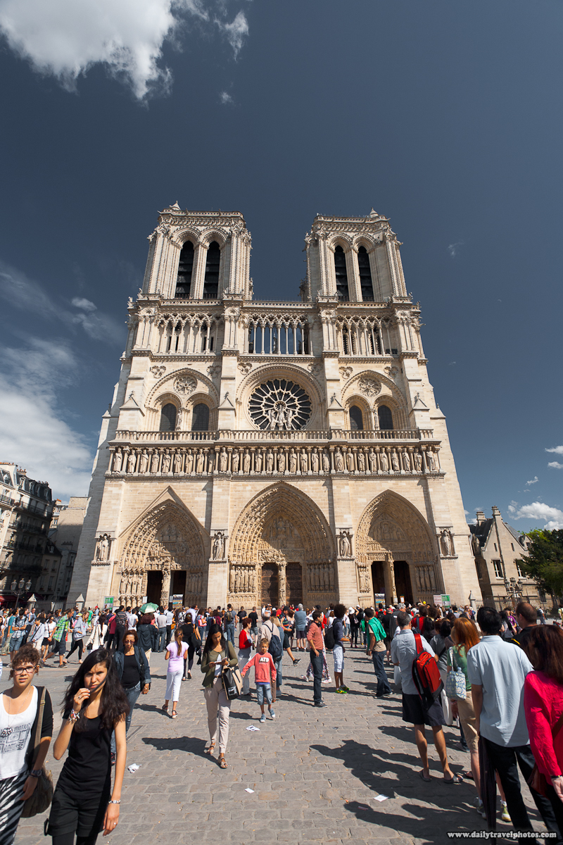 Tourists Queue In Front of Notre Dame Cathedral - Paris, France - Daily Travel Photos