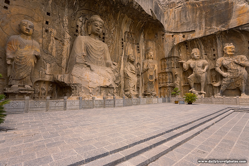 Longmen Grottoes Main Cave Buddhist Caves Large Sculptures Statues - Luoyang, Henan, China - Daily Travel Photos